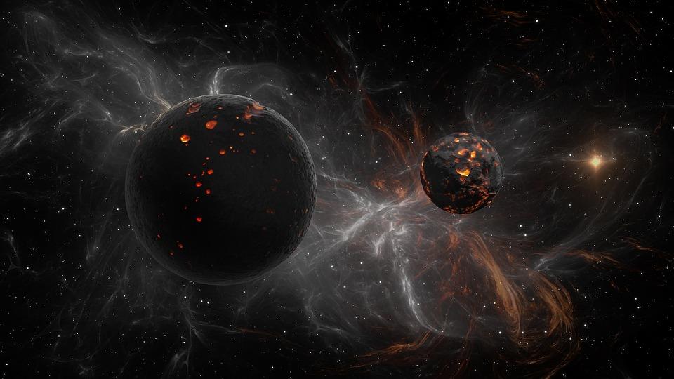 Astronomi, Plass, Moon, Galaxy, Planet, Star, Kosmos
