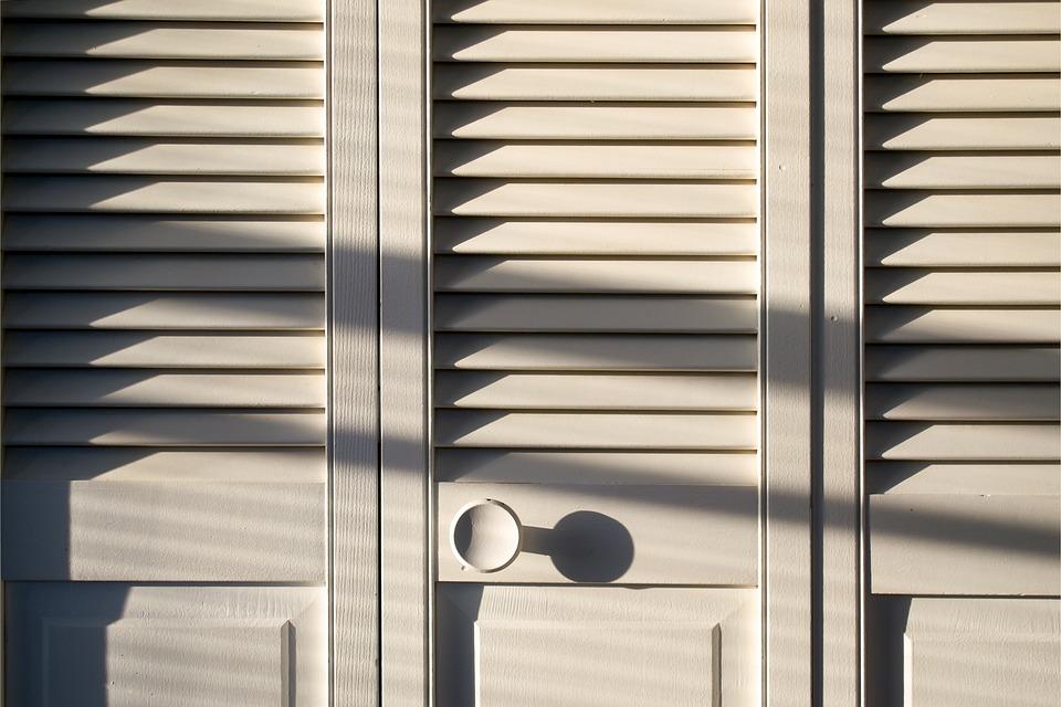 木材, ドア, クローゼット, ホーム, 家, ホワイト, デザイン, 近代的な, ミニマリズム, 現代