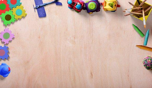 おもちゃ, フレーム, 背景イメージ, パズル, ゴム製のアヒル, 紙飛行機