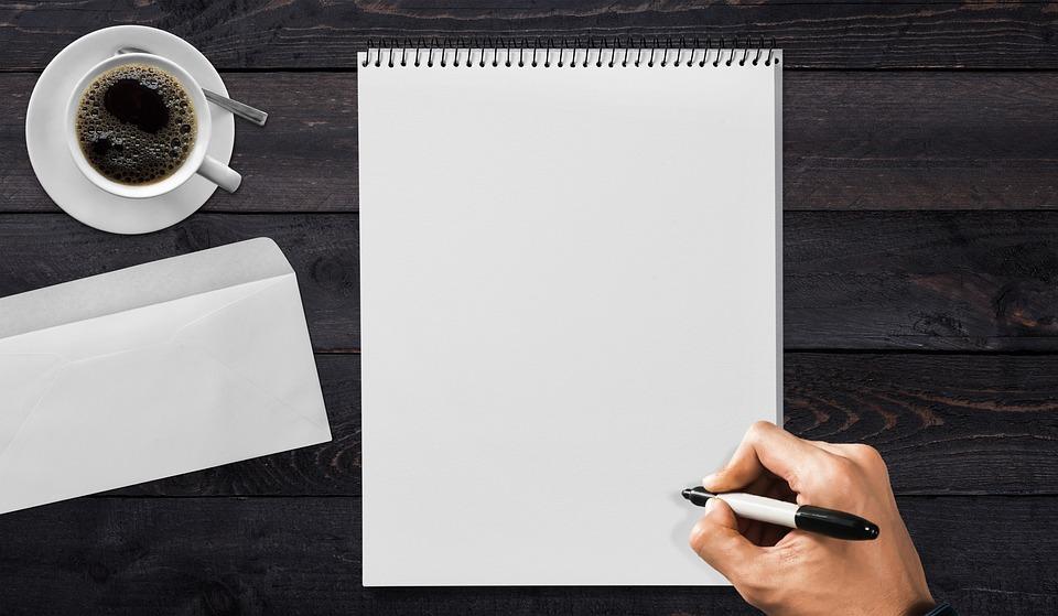 Schrijfpaneel, De Hand, Koelie, Envelop, Koffie, Tafel