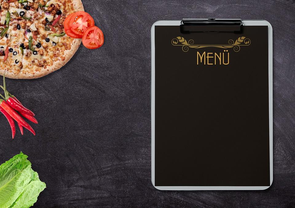 メニュー, ピザ, 野菜, 食べる, トマト, ペパロニ, サラダ, 新鮮, 健康食品, 食品, 焼く