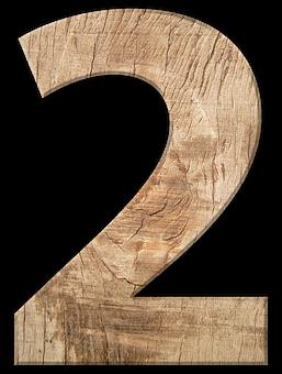 Pay Wood One Grain Pattern Digit