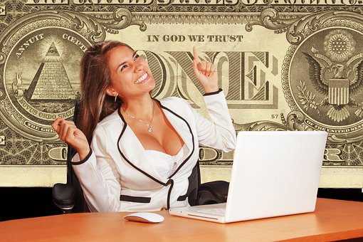実業家, 陽気な, 確認, Dollar, 神, 信頼, 成功