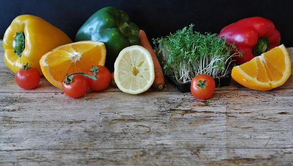 Paprika, Insalata, Arancione