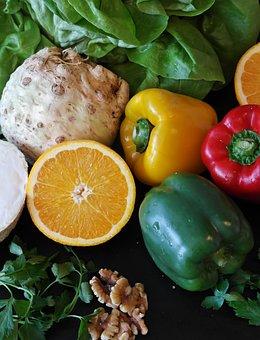 Paprika, Salad, Orange, Still Life