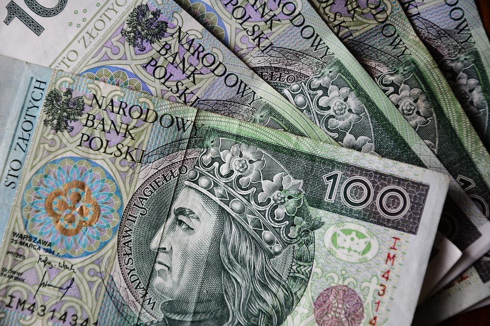 Banknoty, Złoty Polski, Waluta, Finanse, Bogactwo