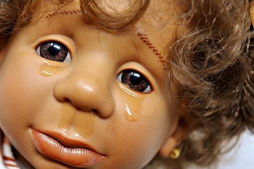 Doll, Girl, Sad, Cry, Tears, Face