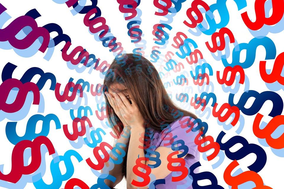 Paragraf, Gesetz, Flut, Stress, Burnout, Überforderung