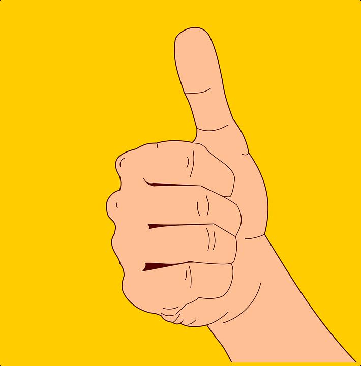 Hand Gebaar Ok Duim - Gratis vectorafbeelding op Pixabay