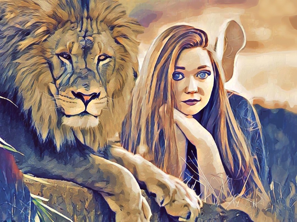 Lion Girl Woman Free Image On Pixabay
