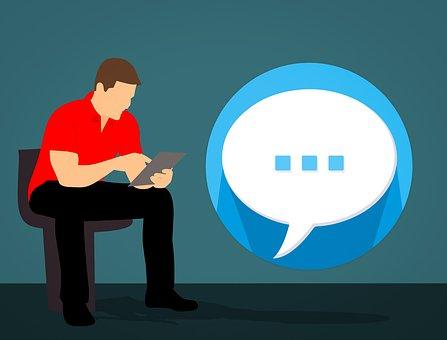 谈话, 聊天, 发短信, 对话, 气泡, 漫画, 图标, 符号, 通讯, 讲话