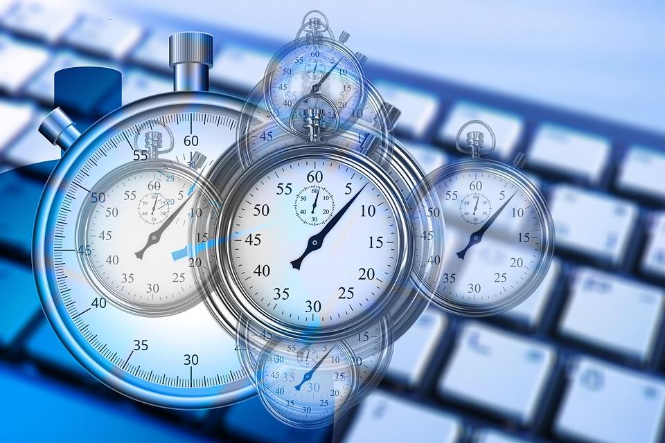 時間, 時間管理, ストップウォッチ, キーボード, コンピューター, 電卓, 業界, 経済, 自己管理