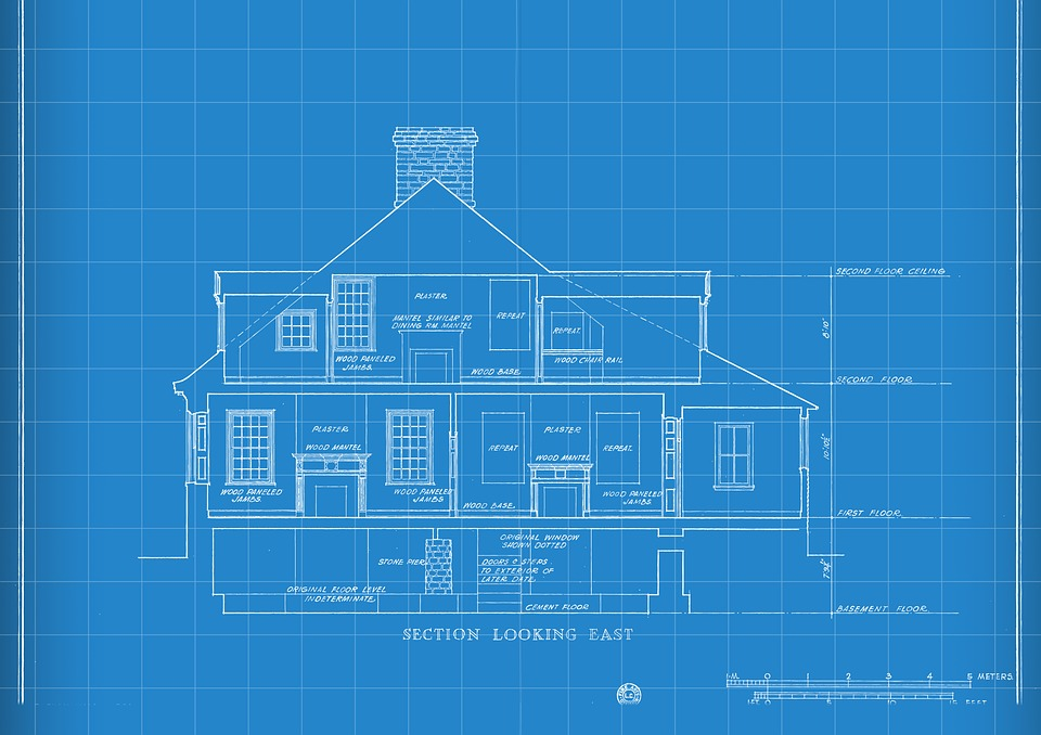 Technology Blueprint House Drawing Construction