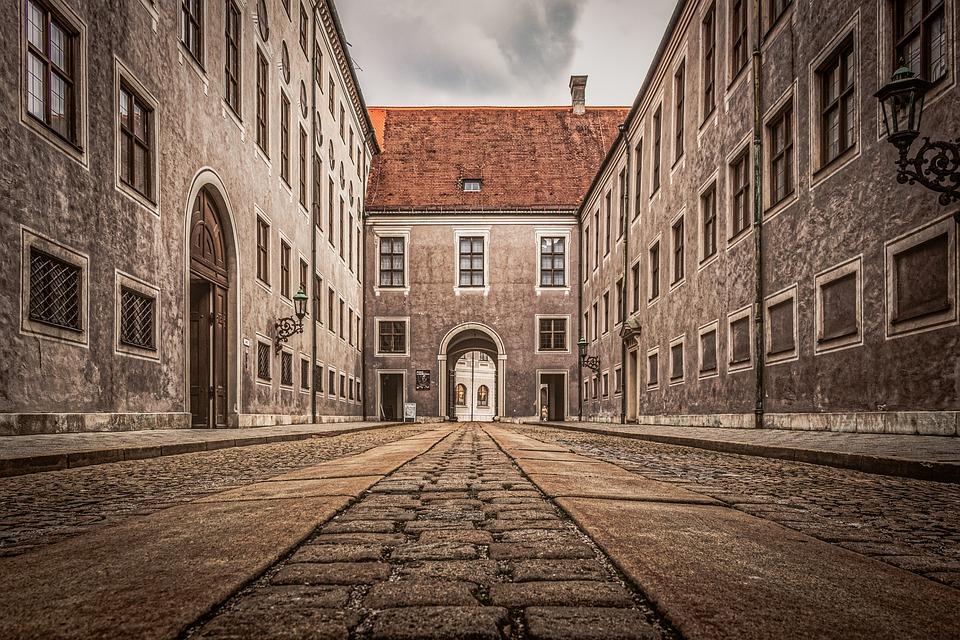Munich, Buildings, Historic, Cobblestone, Architecture