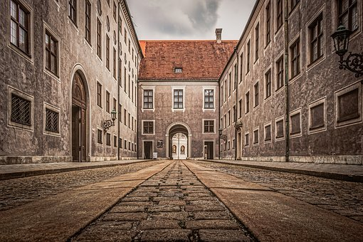 Munich, Buildings, Historic, Cobblestone
