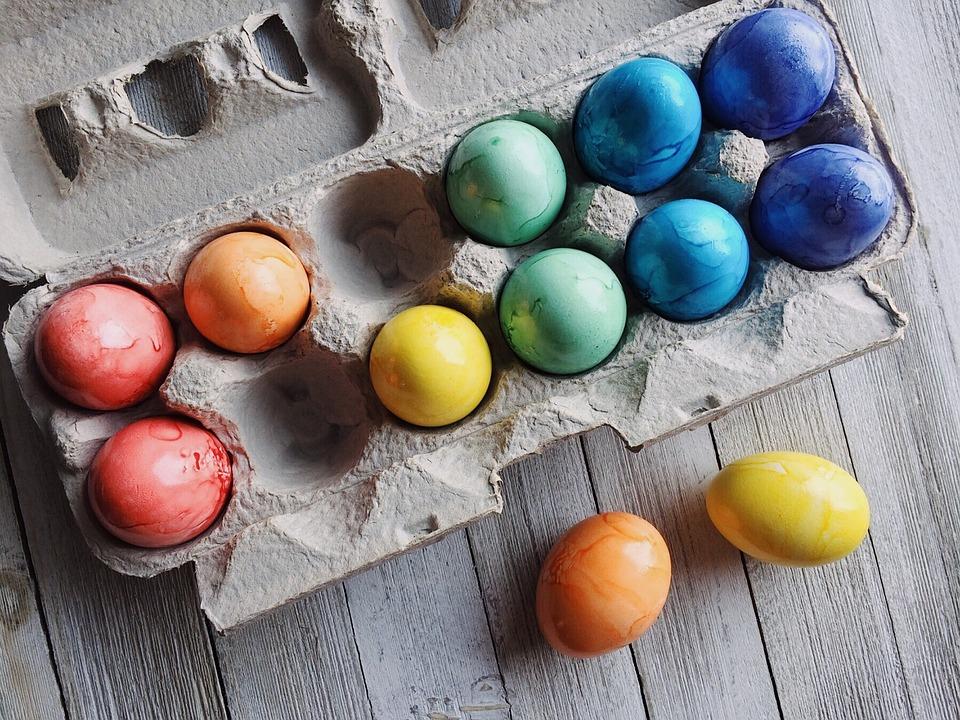 Uova, Pasqua, Uova Di Pasqua, Primavera, Colorato