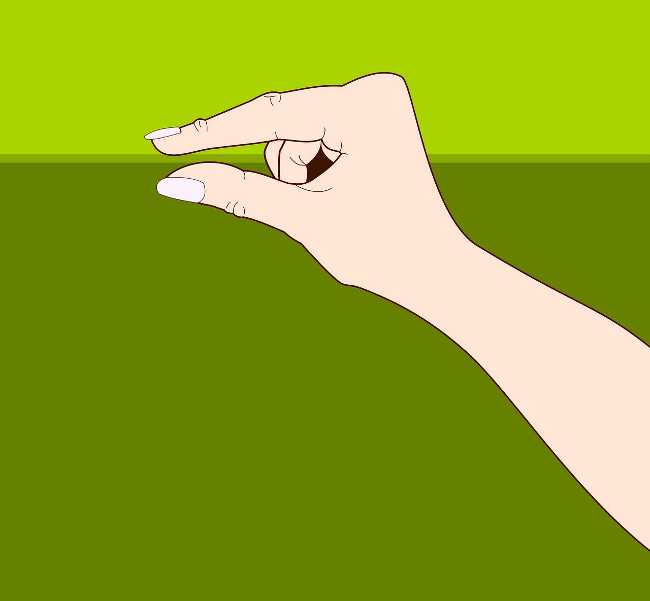 Открытки, открытка язык руки