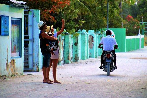 For, Fotografía, Calle, Adulto, Maldivas