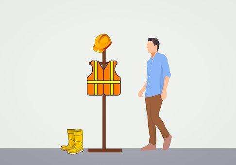 Buscador de Profesionales Pro2meet, Ilustración vector de hombre y ropa de obrero