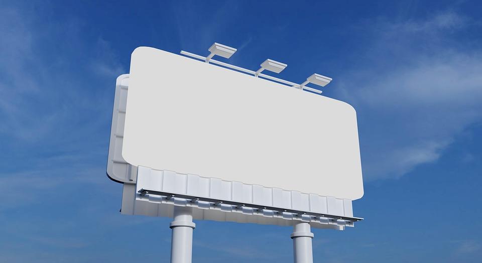 Billboard, Blank, Sky, Empty, Outdoors