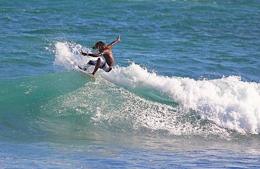 サーフボード, 海, アドレナリン, 挑戦, 自由, 楽しい, ビーチ, 青