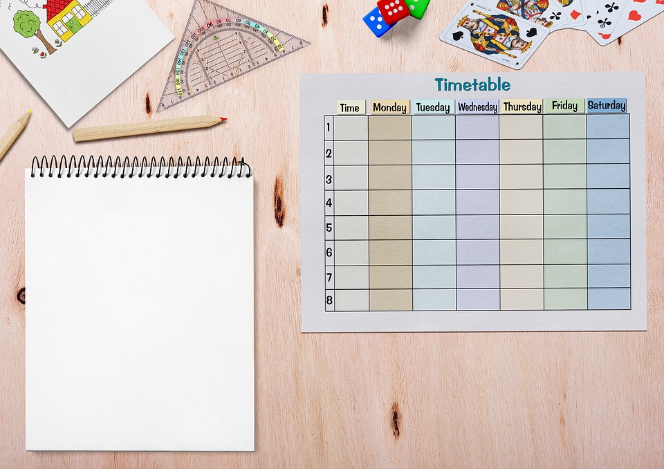 Timetable Paper Drawing Pad - Free photo on Pixabay