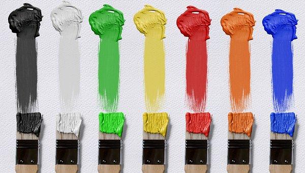Brush, Color, Canvas, Farbkleckse