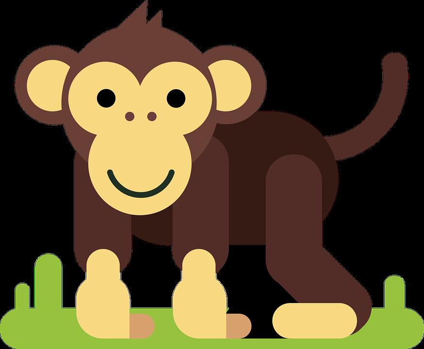 Maymun Hayvan çizgi Film Karakteri Pixabayda ücretsiz Vektör Grafik