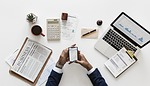 biznesu, dokumenty, smartphone