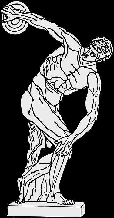 disco discobolus grego gráfico vetorial grátis no pixabay