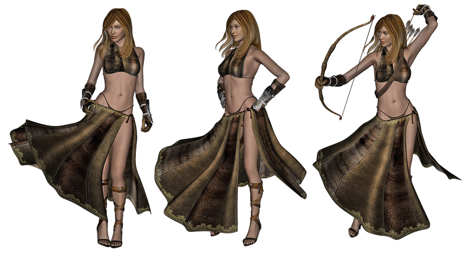 Sexy Fantasy Elf Females - Hot Nude-3085
