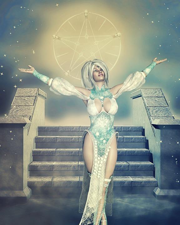 Spiritueel, Offer, Vrouw, Fantasie, Kunst, Schedel