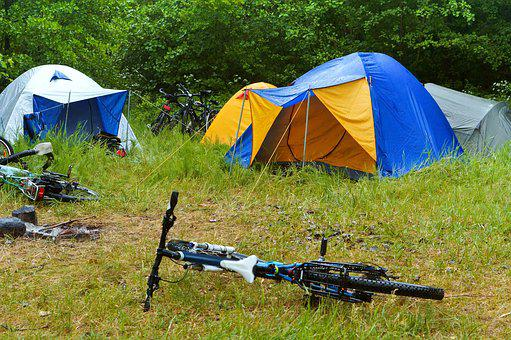 Bike C&ing Rain Tent C& Forest & Tent - Free pictures on Pixabay
