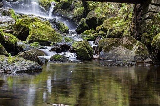 Aguas, La Naturaleza, Río, Roca, Cascada