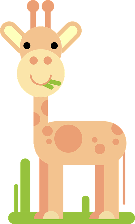 Girafa Animal Comico Desenho Em Grafico Vetorial Gratis No Pixabay
