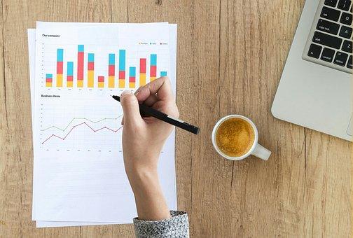 監査, グラフ, 手, 書き込み, ファイナンス, 金融, データ, 統計情報
