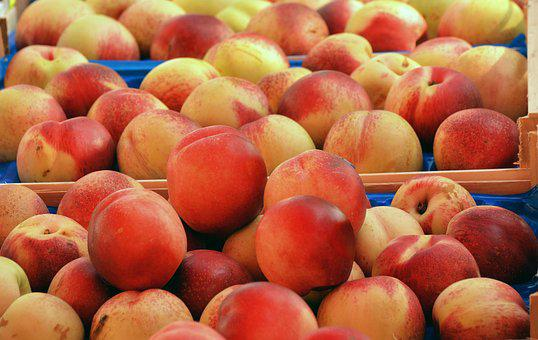 Peaches, Fruit, Food, Juicy, Healthy