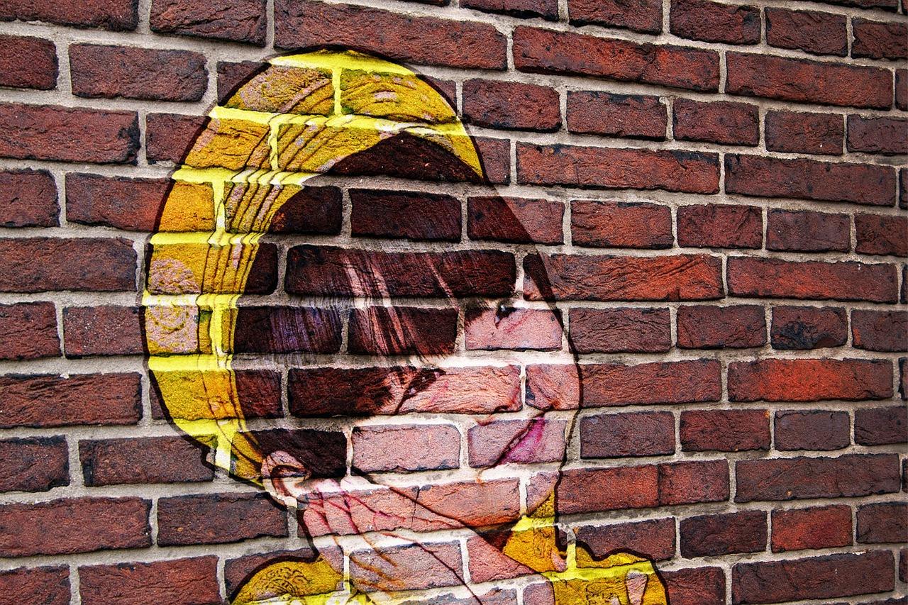 новых кирпичная стена рисунок красками представленные