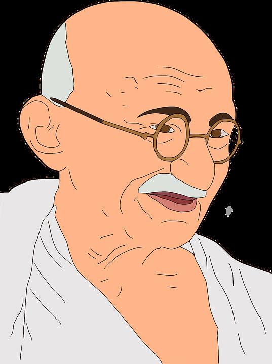 マハトマガンジー ガンジー 私は Pixabayの無料ベクター素材
