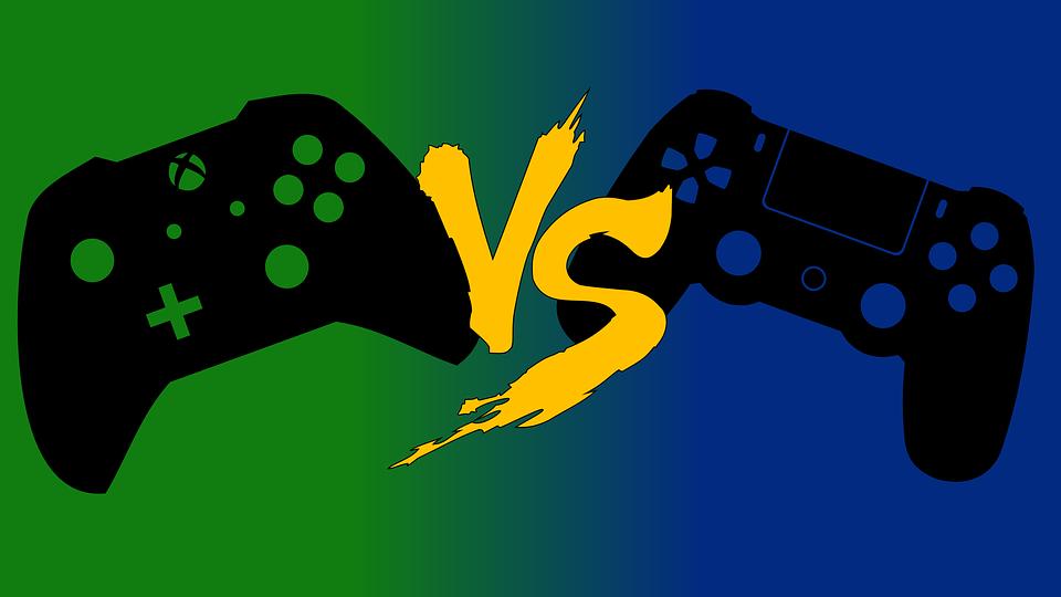 Xbox vs PlayStation Controller artwork