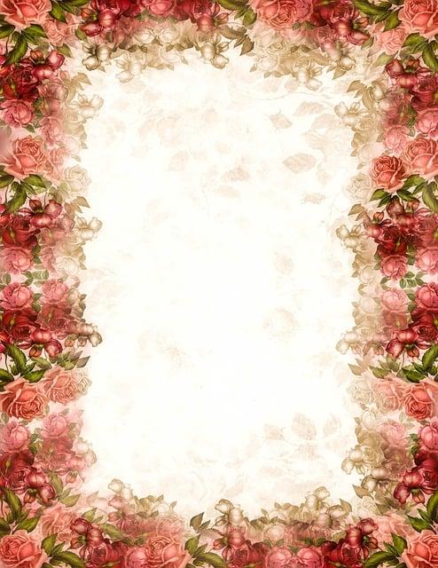 Shabby Chic Roses Stationery 183 Free Image On Pixabay