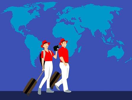 World Map, Travel, Couple, Traveler