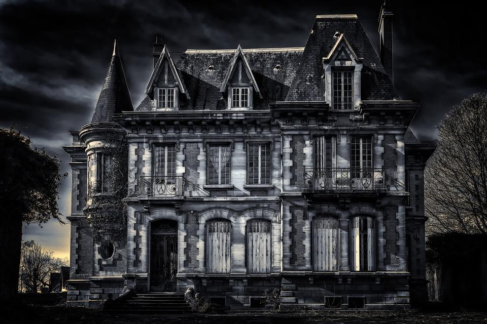 Villa, Haus, Düster, Dunkel, Alte Villa, Residenz