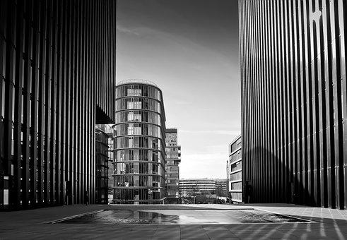 架构, 城市, 摩天大楼, 建设, 现代, 城市景观, 天空, 公司, 玻璃