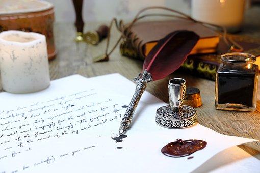 春, 書きます, 通信, 文字, 万年筆, ペン, 筆記用具, インク