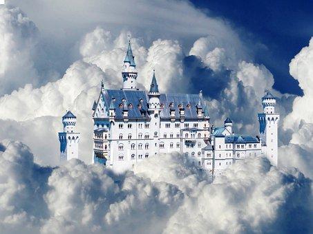 Sky, Cloud, Cumulus, Blue, White