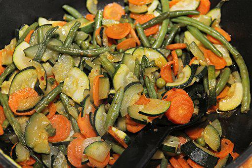 Vegetables, Pan, Vegetable Pan, Beans