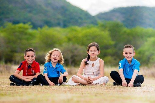 ライフスタイル, 自然, 容易, 楽しい, 家族, 子, 連合, 女の子, 若い
