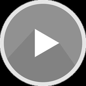 The Youtube Logo, Icon, Grey