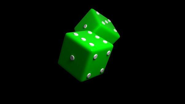 Dice, Green, Luck, Casino, Risk, Play
